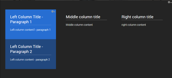 completed content column block