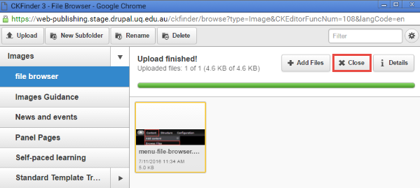 image successfully uploaded