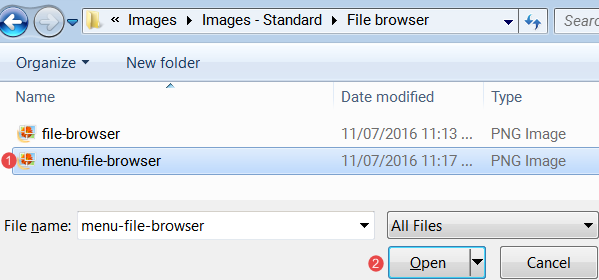 Select image in windows explorer
