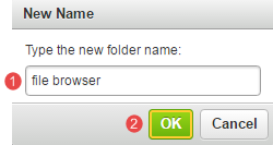 Enter new folder name